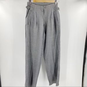 Vintage hand made high rise houndstooth pants